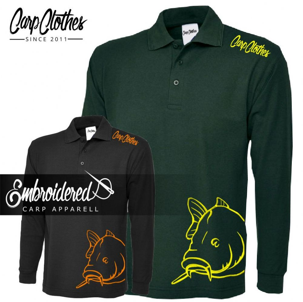 008 EMBROIDERED CARP LS POLO